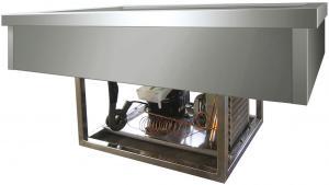 VRI211 Vasca acciaio inox refrigerata (+2º+8°C) da incasso 2x1/1GN 77x68x54,5h