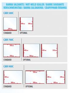 Additional sealing bar for CAM500C-700C-900C models