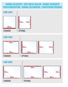 Barra de sellado adicional para los modelos CAM500C-700C-900C