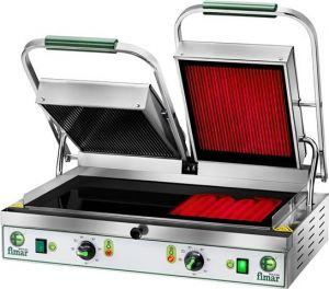 PV55LLT 3400W double lisse plaque de cuisson en céramique triphasée lisse