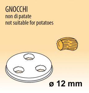 MPFTGN4 Extrusor de aleación latón bronce GNOCCHI NON DI PATATE para maquina para pasta fresca