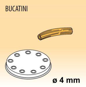 MPFTBU8 Extrusor de aleación latón bronce BUCATINI para maquina para pasta fresca