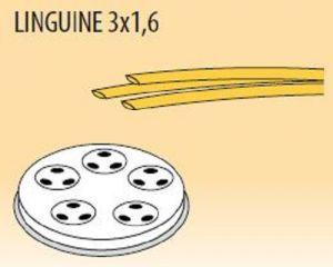 MPFTL3X16-25 Extrusor de aleación latón bronce  LINGUINE 3x1,6 para maquina para pasta fresca