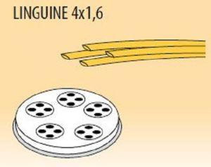 MPFTL4X16-25 Extrusor de aleación latón bronce  LINGUINE 4x1,6 para maquina para pasta fresca