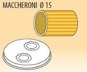MPFTMA15-8 Extrusor de aleación latón bronce MACCHERONI Ø 15 para maquina para pasta fresca