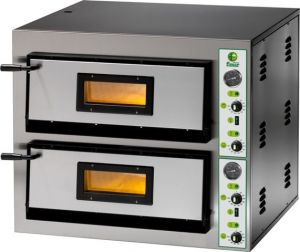 FME44T Four à pizza électrique 8.4 kW chambre double 61x61x14h - Triphasé