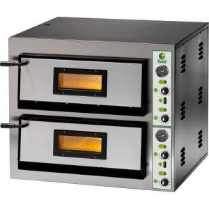 FMEW66T Four à pizza électrique 12,8 kW double chambre 91x61x14 triphasé