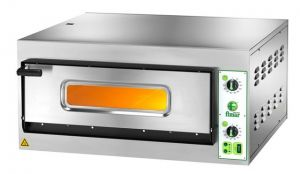 FES4T Four à pizza électrique 4,2 kW 1 pièce 66x66x14h - Trois phase