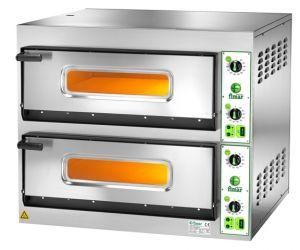 FES66T Four à pizza électrique 14,4 kW double chambre 66x99,5x14h cm - Triphasé