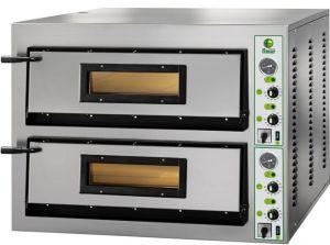 FML44T Four à pizza électrique 12 kW chambre double 72x72x14h cm - Trois phase