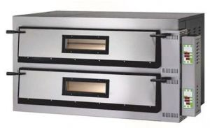 FMD44T Four à pizza électrique 12kW numérique 2 pièces 72x72x14h cm - Trois phase