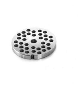 PU123 Plaque en acier inoxydable  3-3,5-4 mm pour hachoir à viande Fimar série 12