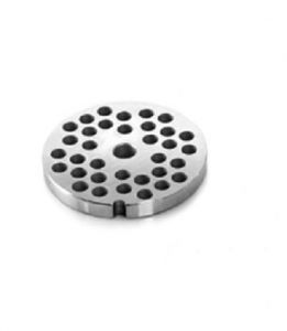 PU123  Stainless steel unger plate  3-3,5-4 mm holes for meat mincer Fimar series 12