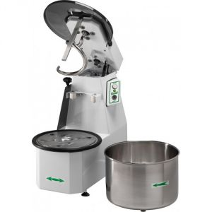 38CNSM Spiral kneader Liftable head 38 kg cicle dough 42 liters removable tank - Single phase
