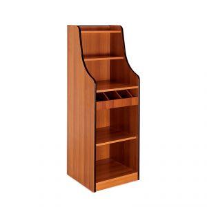 1616F Mobile colore ciliegio, 1 vano giorno, alzatina, 1 cassetto portaposate aperto