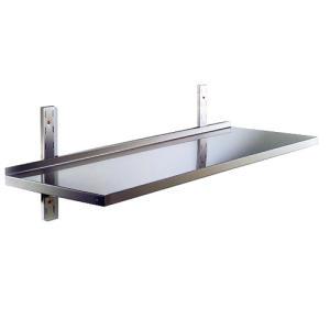 RI9000 - Plataforma lisa de acero inoxidable AISI 304 con tenue espalda. cm. 60x30x4h