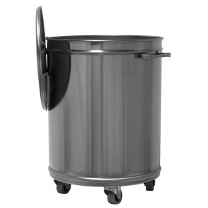 MC1001 70 liters round stainless steel AISI 304 trolley
