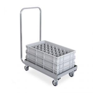 2202P Base con manico in acciaio inox per cestelli lavastoviglie cm 61x41