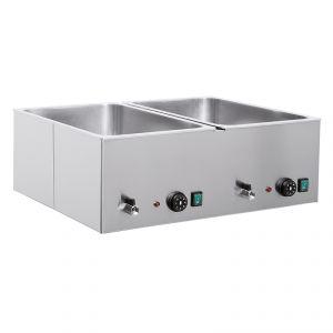 9555-2 Tavola calda da banco, 2xGN 1/1, secco+bagnomaria
