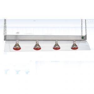 9570S Telaio inox a sospensione con lampade a infrarossi, GN 4/1