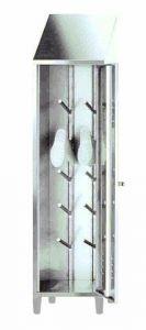 IN-696.03 Soporte de arranque en acero inoxidable AISI 304 - dim. 50x50x215 H