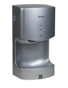 T160102 Secador de manos eléctrico MOCKA ABS 1300 Watt gris metalizado