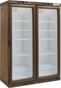 KL2792N Cantinetta per vini a refrigerazione statica - 310+310 lt -  COLORE NOCE CHIARO