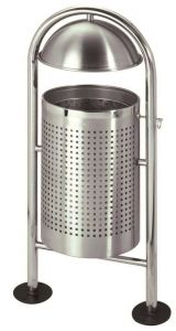 T106062 Stainless steel litter bin  for outdoor use 30 liters