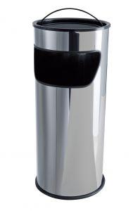 T775010 Cendrier-Corbeille 25 litres acier inox avec sable