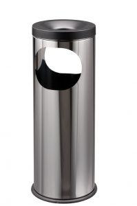 T775020 Cendrier-Corbeille acier inox Double ouverture 19 litres