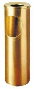 T700057 Papelera-cenicero de latón 16 litros