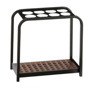 T714019 Umbrella stand multiposition Black steel 8 position