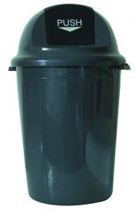 T102011 Push bin plastic grey 80 liters (Pack of 4 pieces)