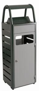 T103010 Corbeille avec cendrier gris extérieur 25+4 litres