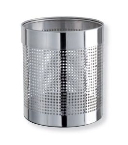 T103036 Papelera perforada acero inox brillante 11 litros