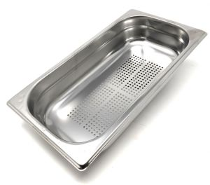 GST1 / 3P200F Gastronorm container 1/3 h200 drilled in stainless steel AISI 304
