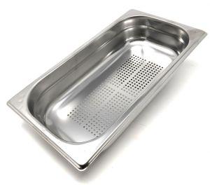 GST1 / 3P200F Recipiente Gastronorm 1/3 h200 perforado en acero inoxidable AISI 304