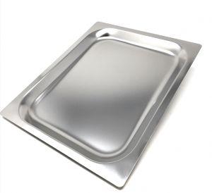 FNC1 / 2P020 Plaque de cuisson Gastronorm 1/2 h20 en acier inoxydable bord plat AISI 304