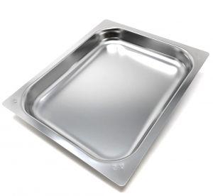 FNC1 / 2P040 Gastronomie ture 1/2 h40 en acier inoxydable AISI 304 bord plat