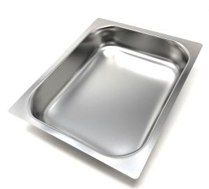 FNC1 / 2P065 Gastronomy tray 1/2 h65 in stainless steel AISI 304 flat edge