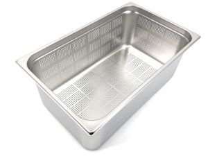 GST1/1P200F Gastronorm Container 1 / 1 h200 perforated stainless steel AISI 304