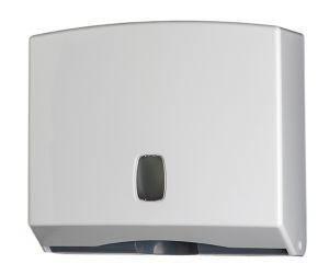 T104022 Towel paper dispenser transparent white ABS 200 sheets