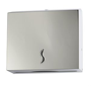 T105012 AISI 304 polished s. steel Paper towel dispenser 200 sheets