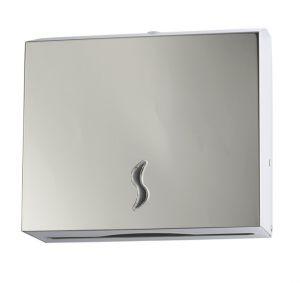 T105012 Distributore carta asciugamani acciaio inox AISI 304 brillante 200 fogli