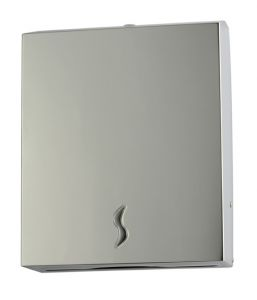 T105016 AISI 430 polished s. steel Paper towel dispenser 400 sheets