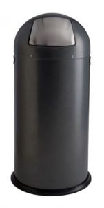 T106034 Dapple Silver Steel Push bin 52 liters