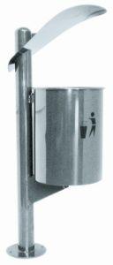 T106061 Papelera para uso exterior acero inox 30 litros