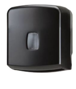 T104257 Interfold or roll toilet tissue dispenser 250 sheets black ABS