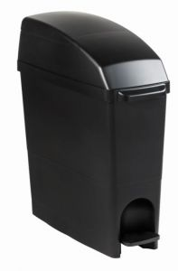 T104281 Sanitary towel disposal bin Black polypropylene 18 liters