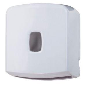 T104057 Distributeur de papier hygiénique en paquets 250 ou rouleau ABS blanc
